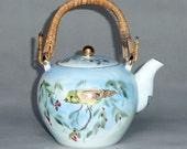 Hand Painted Blue Bird Teapot