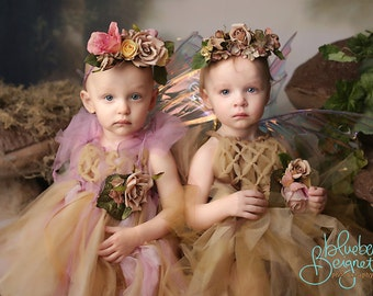 Enchanted rose baby dress, baby fairy, Newborn fairy, fairy dress, newborn photography fairy