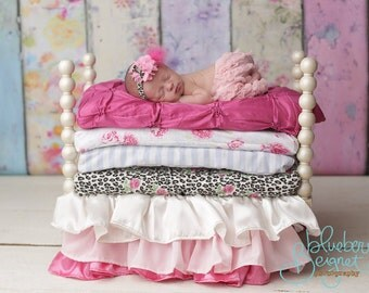 Princess and the Pea, photo prop, baby doll bed, photography newborn, newborn set, baby jammies
