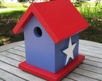 Birdhouse: Red, White and Blue