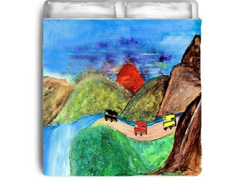 RV Travels Campers Comforters from my art