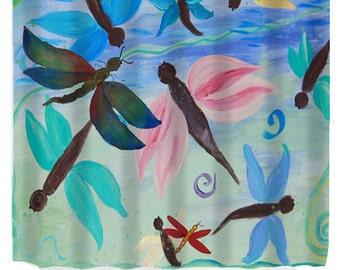 Dragonflies Garden Art Shower Curtain