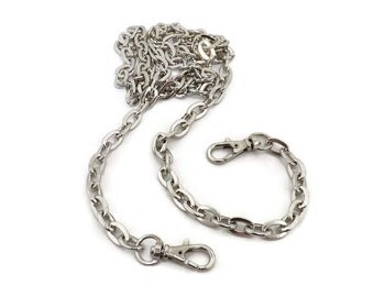 24 Inch 12mm Oval Link Nickel Purse Chain