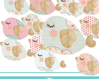 Quilt bird clipart - COMMERCIAL USE OK