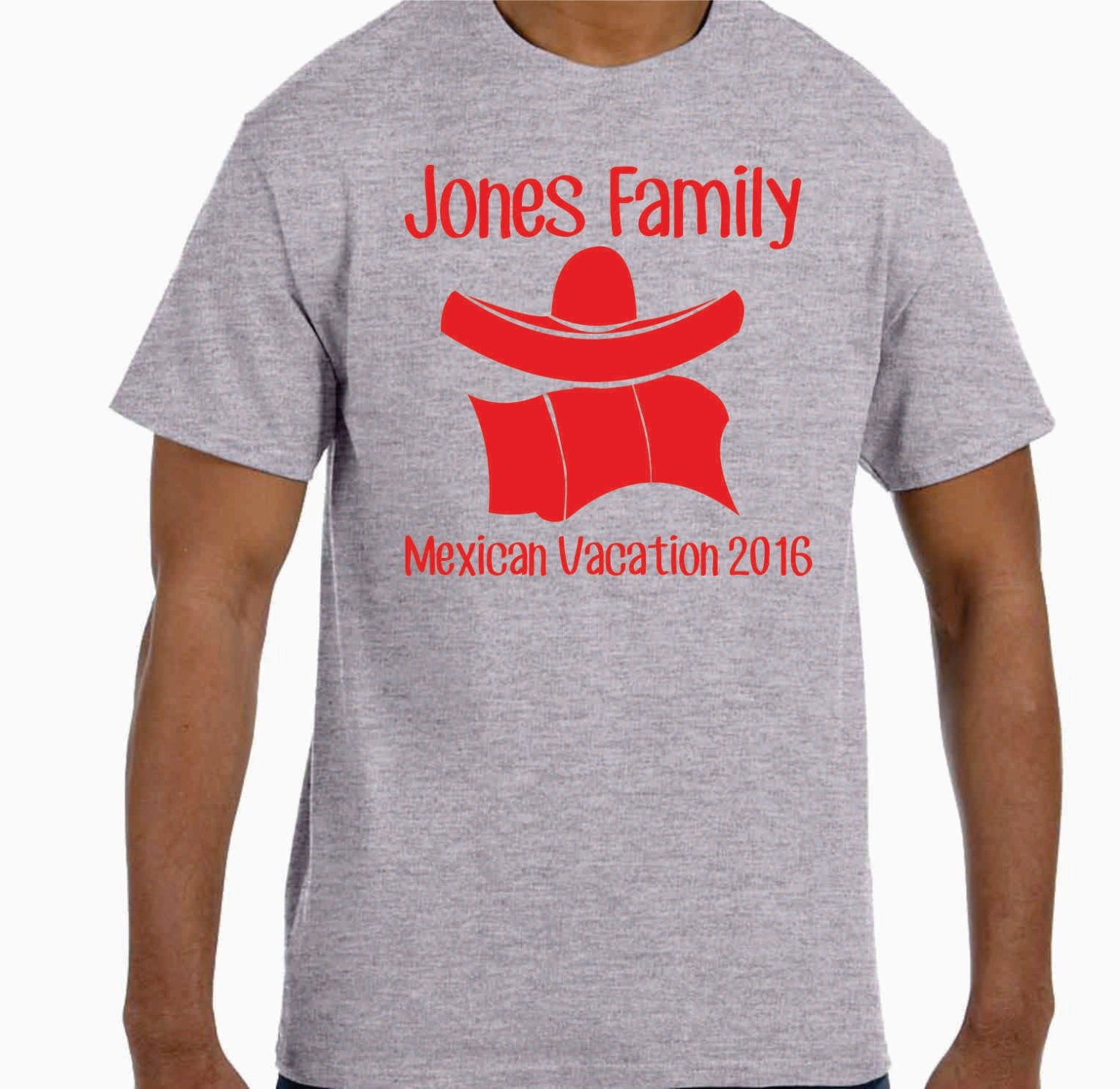 Lot of 10 personalized mexican family vacation t shirts for Custom t shirts for family reunion