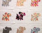 Pretty Puppies Appliqued Quilt Blocks