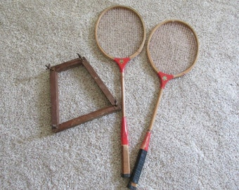 Wood Badminton Rackets with Guards Please Choose One Set Racquets