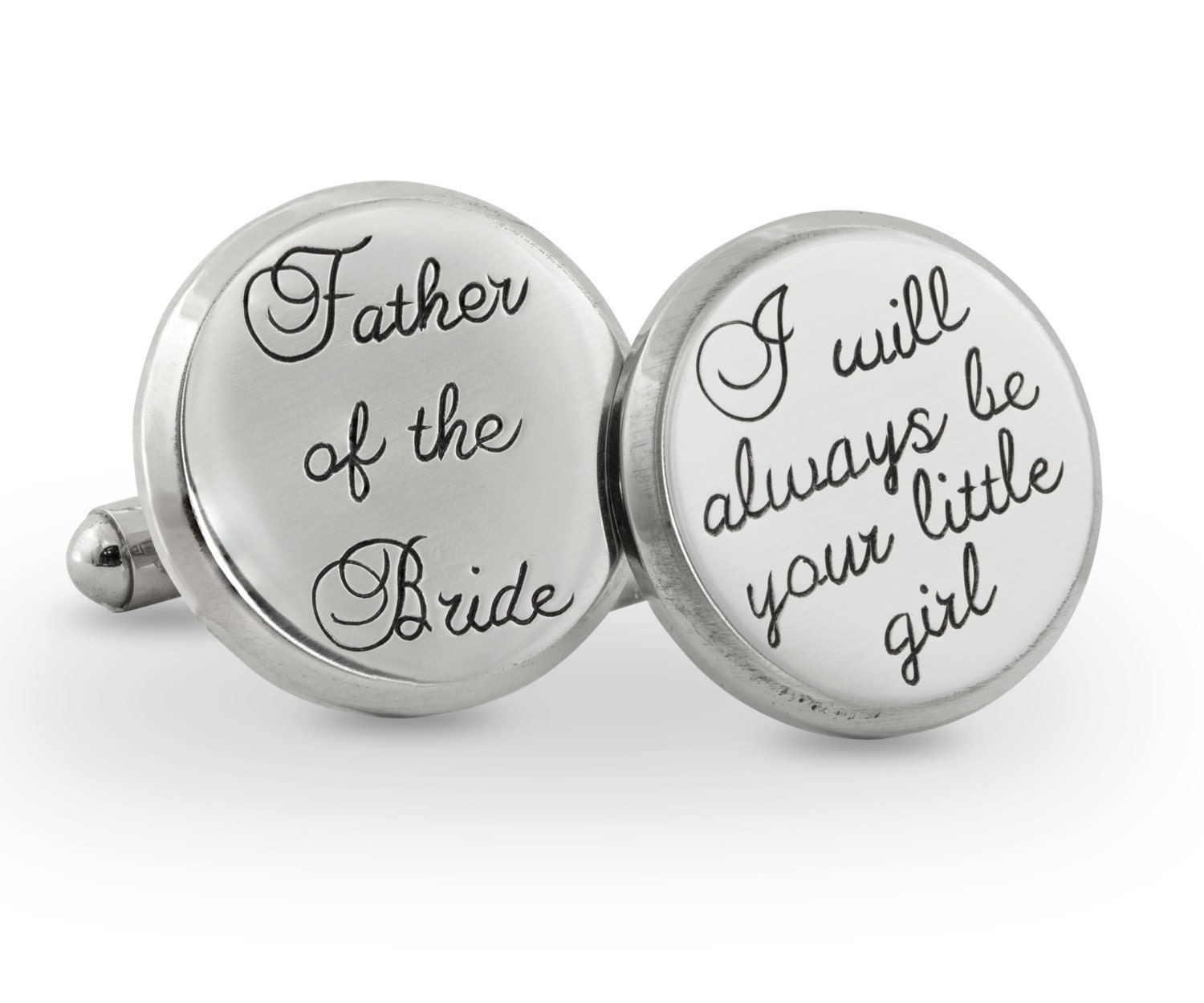 Father Of The Bride Steel Cuff Link Father Of The Bride Cuff