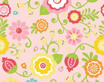 Large Nursing Cover Simply Sweet in Pink by Riley Blake Breastfeeding Cover floral Ready to ship