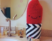 Lipstick pillow - crochet pattern - PDF