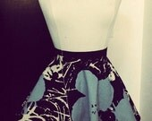 SAMPLE SALE ITEM: Andy Warhol Floral Print A Line Skirt  Sample Size 6/8