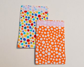 Luggage Handle Wraps set of two reversible Dotty traveler teacher gift Quiltsy Handmade