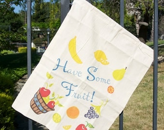 Cotton Produce Bag - Fruit Design