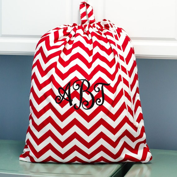 Laundry Bag   Extra Large Laundry Bags for College   Laundry Tote   Red Chevron