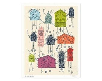 Cuckoo Cuckoo Clock for You Illustrated Art Print