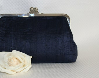 Wedding Clutch, Navy Blue Bridal Clutch - Navy Wedding Purse - Bridesmaids Clutch - Bridesmaids Purse - Bridesmaid Gifts - Marion Clutch