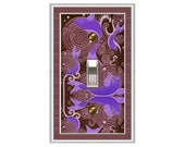 0320X - Lucky Purple Koi Pond Switchplate - Mrs Butler  (Choose price & configuration from dropdown box)