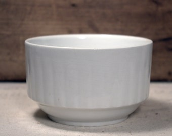 White Ironstone Bowl * Johnson Bros * China * Ironstone * Vintage