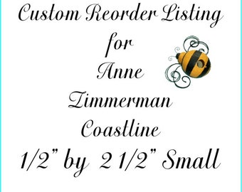Custom Reorder Listing for Anne Zimmerman Small One Half by Two and One Half Coastline Labels