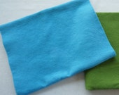 Azure Blue Hand Dyed Felted Wool Fabric - Hand Dyed - - 100% Wool