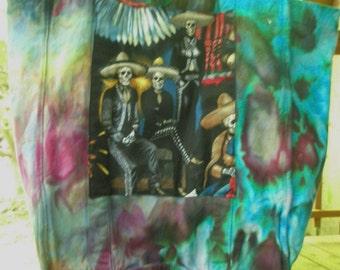 Embellished Dyed Canvas Tote Bag