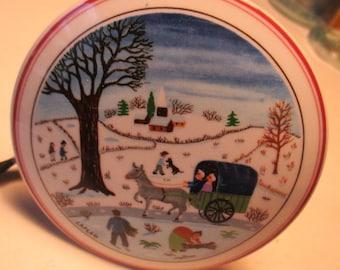 Villeroy & Boch WINTER FARM Naif Christmas Porcelain Trinket Box Luxembourg