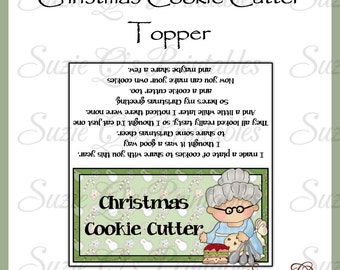 Christmas Cookie Cutter Topper - NEW DESIGN -  Digital Printable - Immediate Download