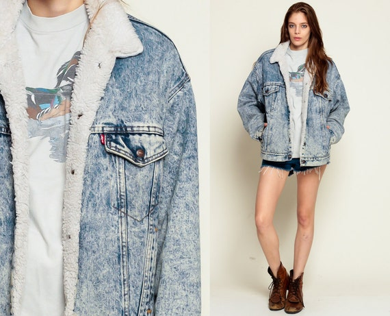 Medio di vegano vintage denim giacca levis denim jacket acido for Giacca di jeans levis