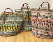 Tokyo Train Canvas Beach Bag