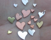 Wavy Heart Discs/24or22 Gauge(you choose the size,material and quantity)Sterling Silver, Copper,Brass or Gold Filled