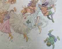 Charles and William Heath Robinson's Illustrations, ELFIN-MOUNT,  Reprint of 1913 Illustration, Unframed Vintage Book Page Print, 1976