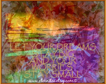 Big Dreams, Small Worries Art Print Tranquil colors