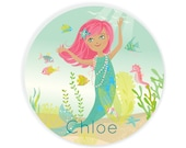 PLATE - Personalized Mermaid plate for kids