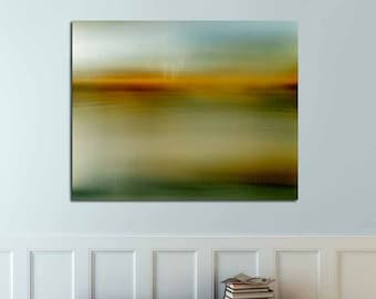 Evening Hues.  nature surreal evening image original photo minimalist zen yellow green image mysterious art dreamy photo abstract landscape
