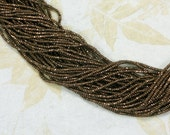 Tiny Bronze Faceted Rondelle Beads Hematite 2mm x 3mm Spacers Metallic Colored Electroplated Stone (5451)