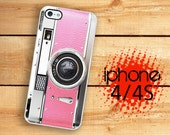iPhone 4S Pink camera iPhone 4 4S Case Pretty Princess Pink Retro Camera  Vintage Style Classic Kitsch Kitchen Pink