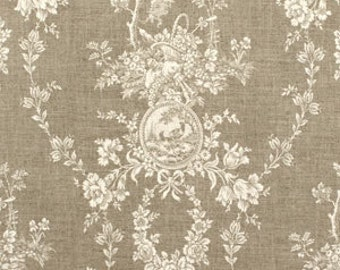 "Drapery Panel in Waverly Country House Toile Linen,  84"" or 96"" length"