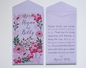 Garden Party Purple Seed Packet Wedding Favors - Many Colors Available