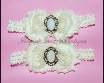 Infant Headband, Newborn flower headband, Baby girl headband, wedding headband