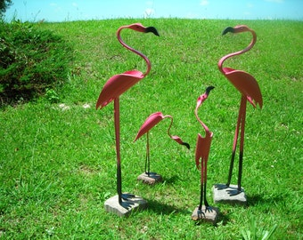Flamingo Family of 4 - PVC
