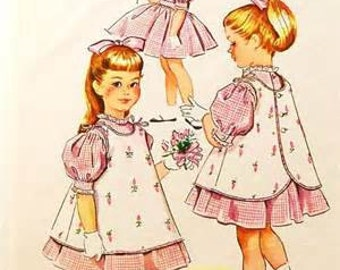 McCalls 2275    Size 5    Child's Dress and Pinafore    Vintage 1950's Sewing Pattern