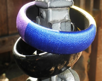 Vintage 1980s Jewel Toned Large Party Bangles