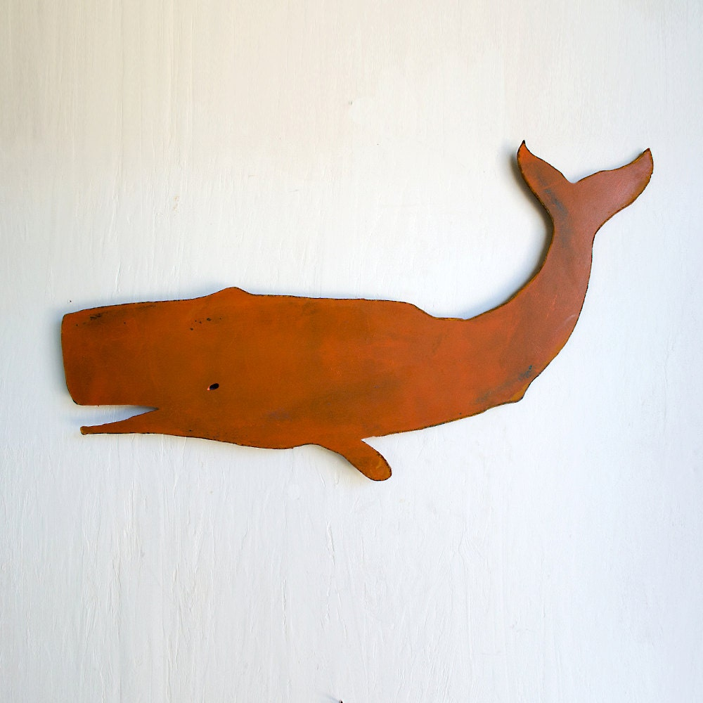 Whale Metal Wall Hanging Art Wall Hanging Sperm Whale