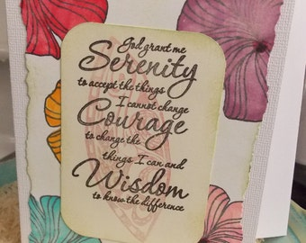 Serenity Prayer card - option for local pick up Ottawa's ByWard Market Building