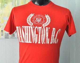 Sweet Vintage Tee Washington DC usa TShirt Red Seal Soft n Thin SMALL