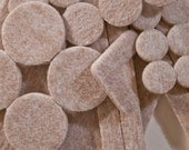 Assorted Packs of Heavy Duty Floor and Furniture Felt Pads - Tan