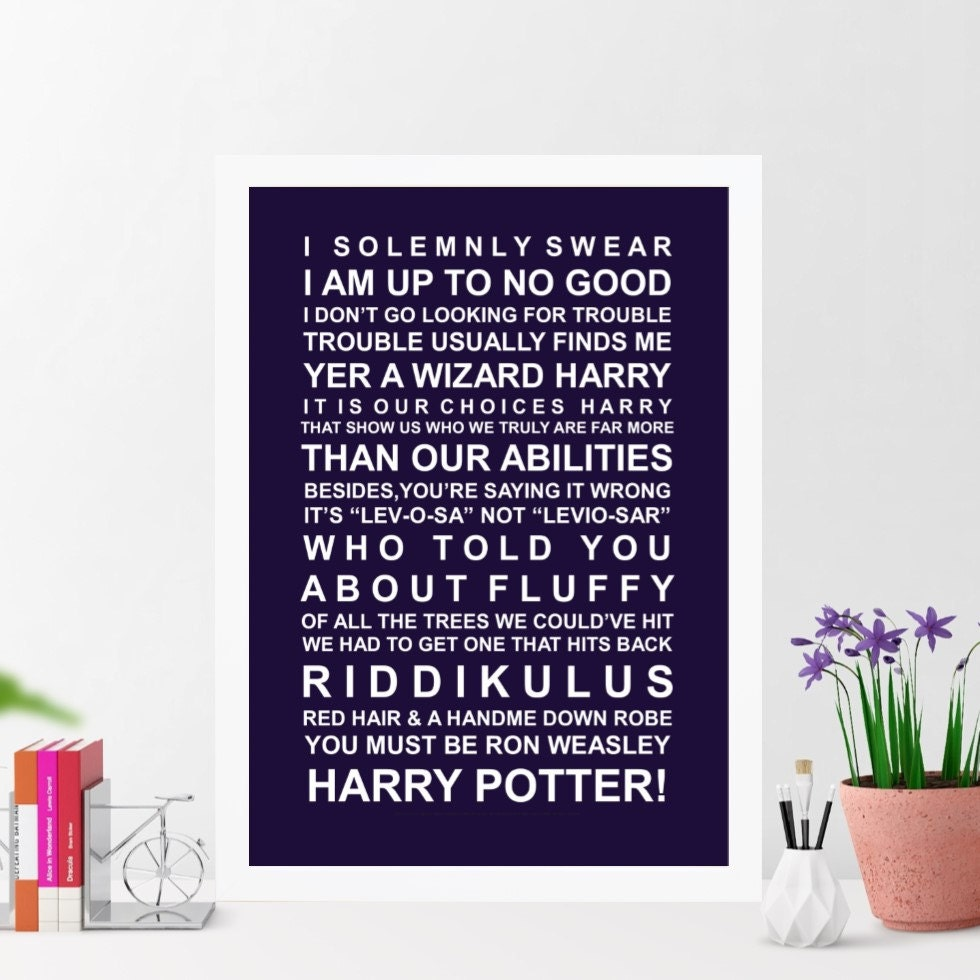 Movie Quotes Wall Art : Harry potter movie quotes wall art poster by harpergrace