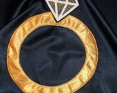 Ring Bearer Superhero Cape Reversible Washable Satin Personalized Initial Name