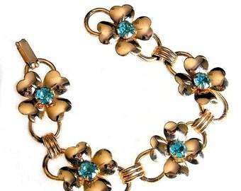 Coro Dogwood Flower Bracelet