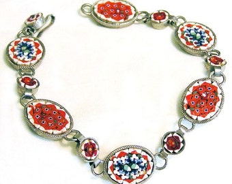 Charming Mosaic Tile Bracelet From Italy